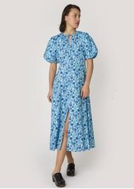 RESUME Fiona Organic Cotton Floral Dress - Light Blue