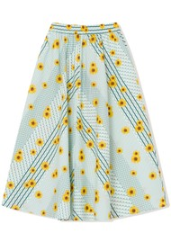 RESUME Feline Organic Cotton A Line Skirt - Mint