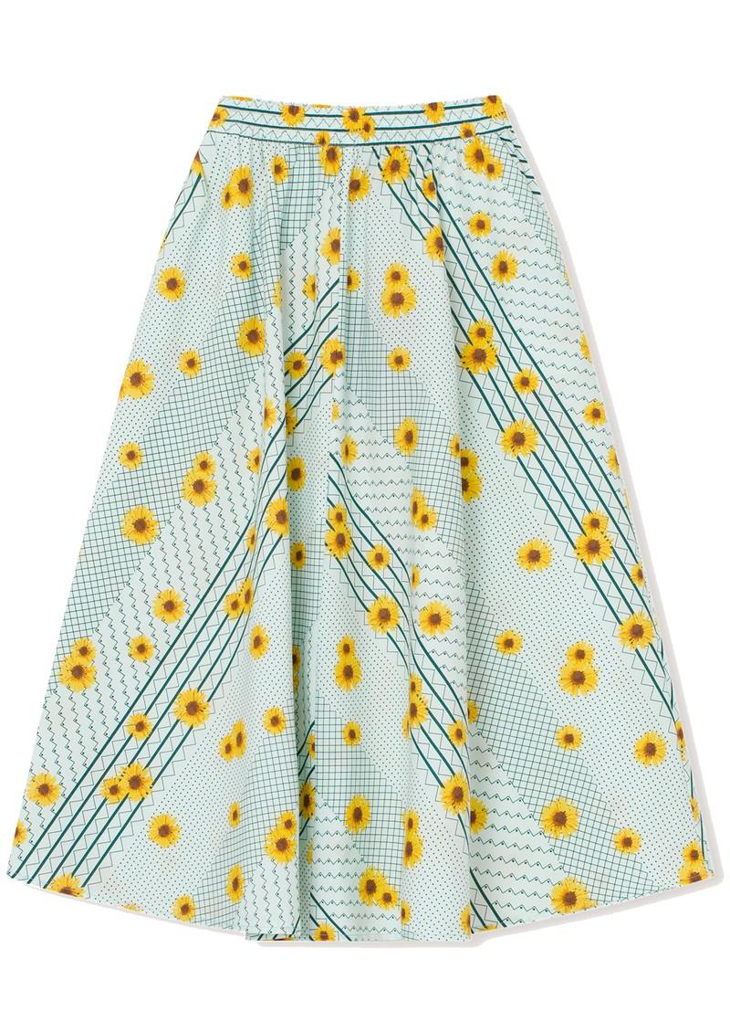 RESUME Feline Organic Cotton A Line Skirt - Mint main image