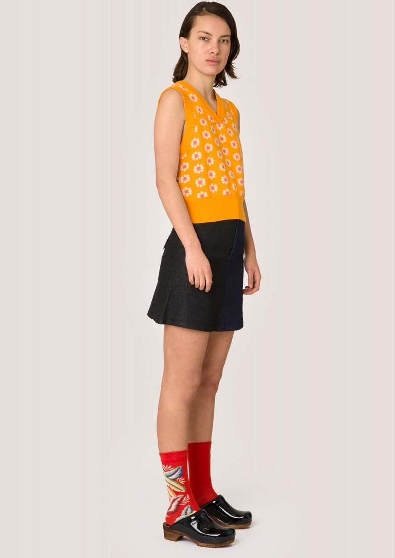 RESUME Feely Knitted Vest - Saffron  main image