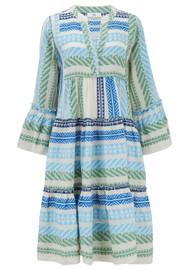 DEVOTION Zakar Ella Cotton Embroidered Dress - Green