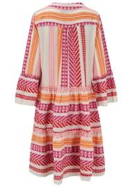 DEVOTION Zakar Ella Cotton Embroidered Dress - Fuschia