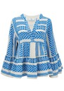 Armonia Cotton Blouse - Blue & White  additional image