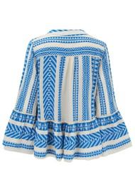 DEVOTION Armonia Cotton Blouse - Blue & White