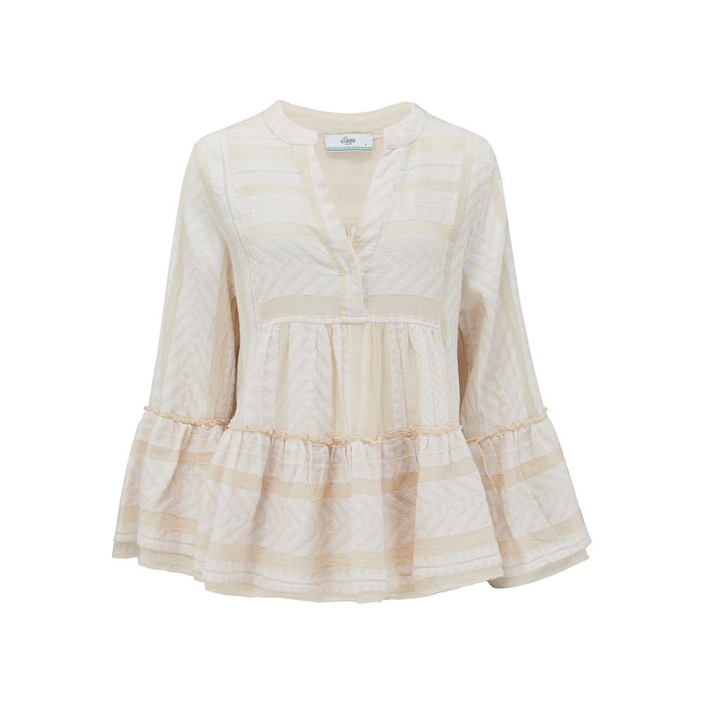 Armonia Cotton Blouse - Ecru
