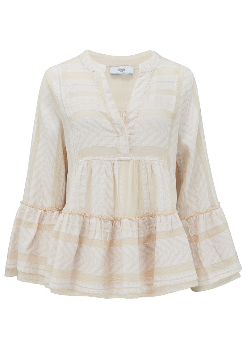 DEVOTION Armonia Cotton Blouse - Ecru main image