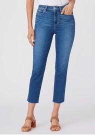 Paige Denim Sarah Slim High Rise Straight Leg Crop Jean - Starcrossed