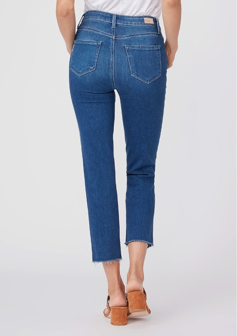 Paige Denim Sarah Slim High Rise Straight Leg Crop Jean - Starcrossed main image