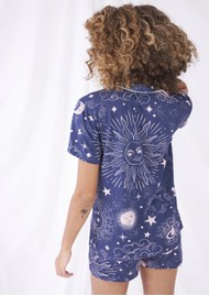 STRIPE & STARE Bedshort Pyjama Set - To The Moon