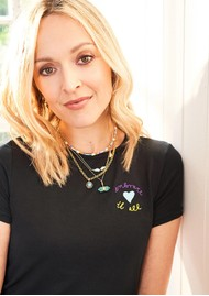 STRIPE & STARE Embroidered Black Tee - Embrace It
