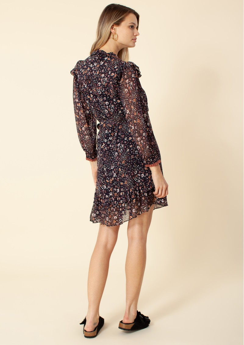 Hale Bob Midi Leopard Dress - Black main image