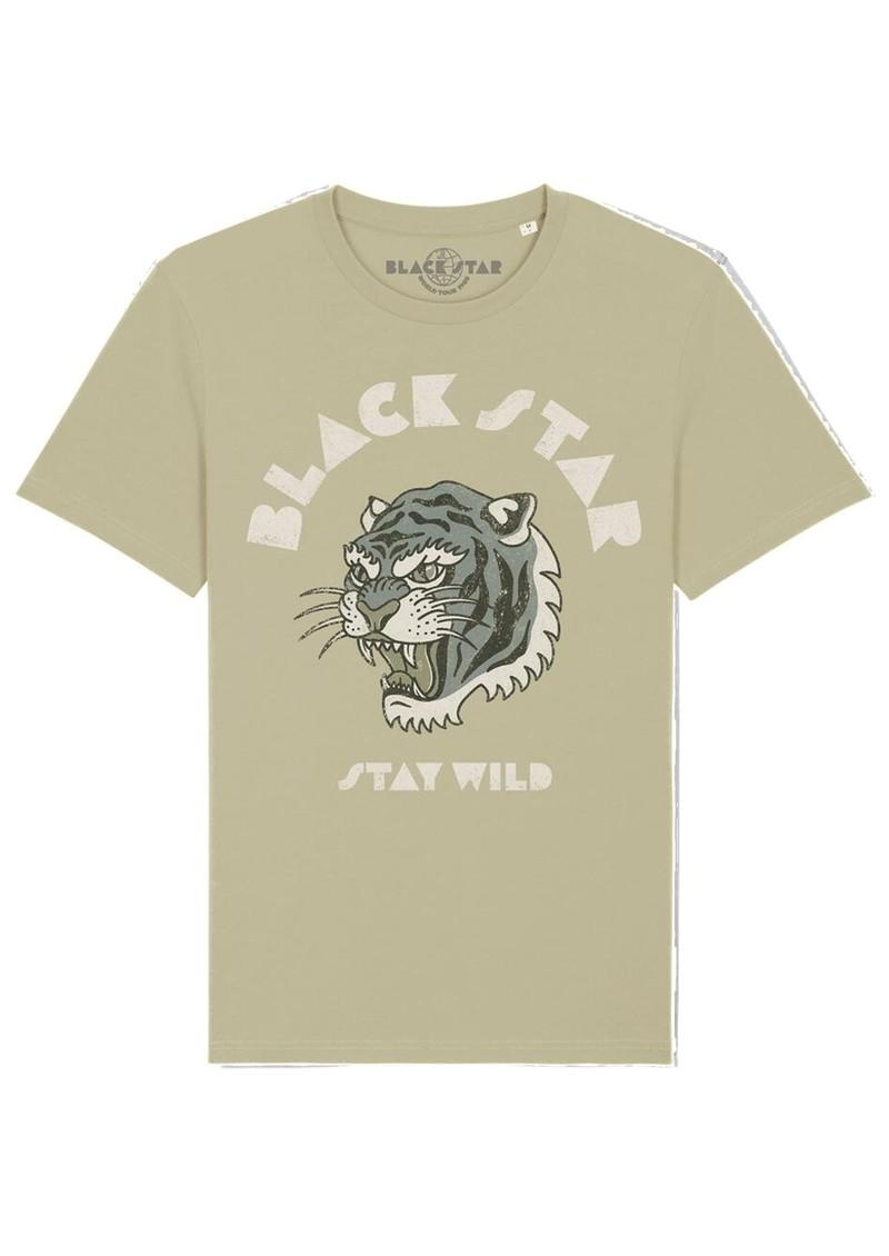 BLACK STAR Stay Wild Organic Cotton Tee - Sage main image