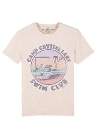 BLACK STAR Swim Club Organic Cotton Tee - Ecru Mandarin