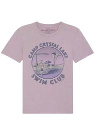 BLACK STAR Swim Club Organic Cotton Tee - Vintage Lilac