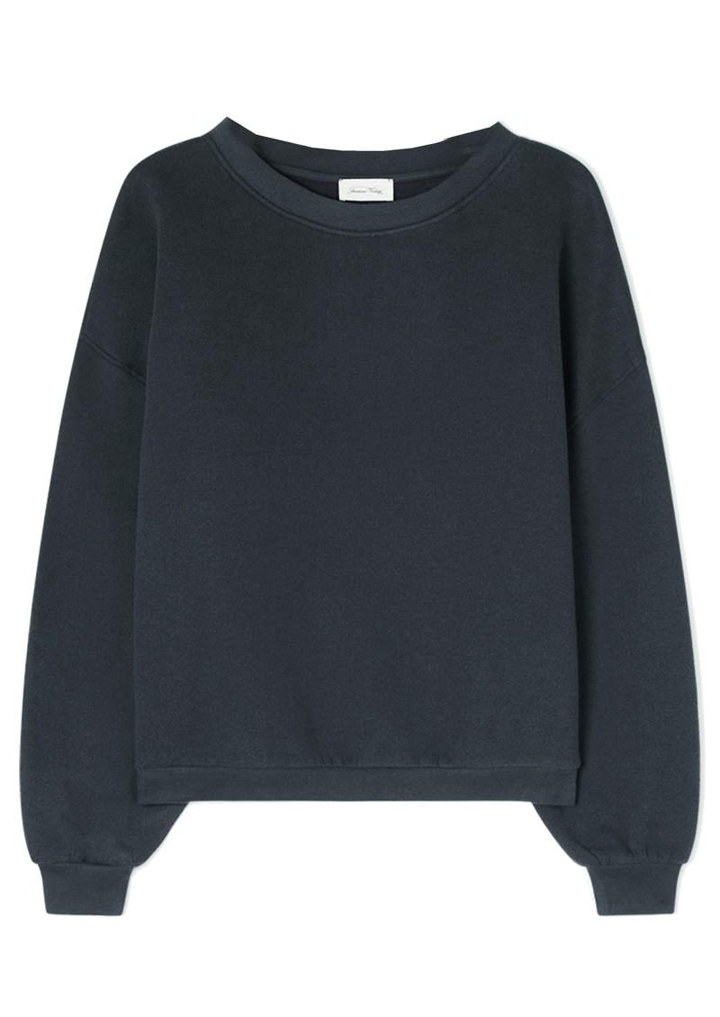 American Vintage Ikatown Cotton Mix Sweatshirt - Storm main image