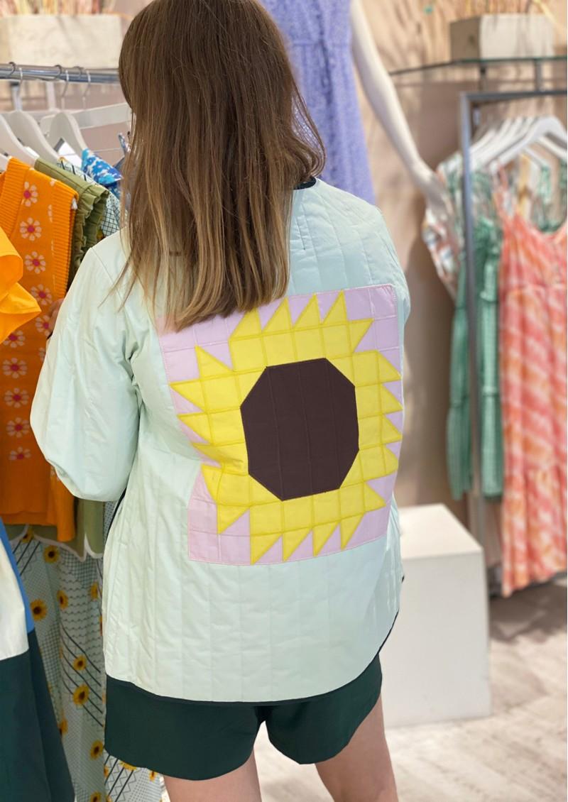 RESUME Femke Quilted Cotton Jacket - Mint main image