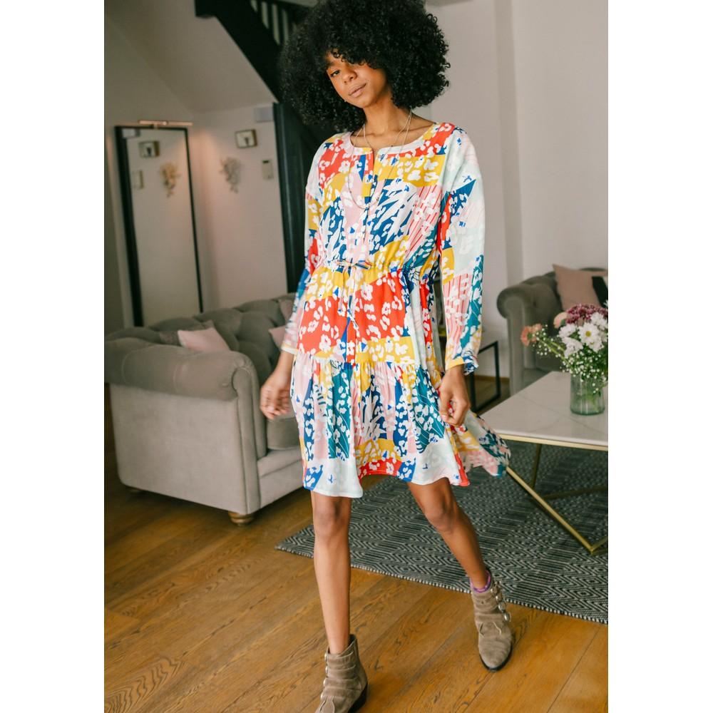 Frances Drawstring Dress - Sienna