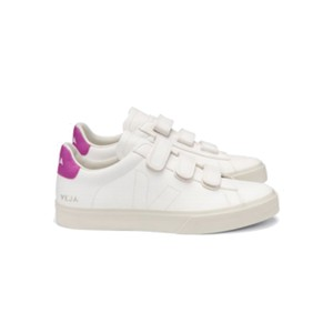 Recife Leather Trainers - Extra White & Ultraviolet