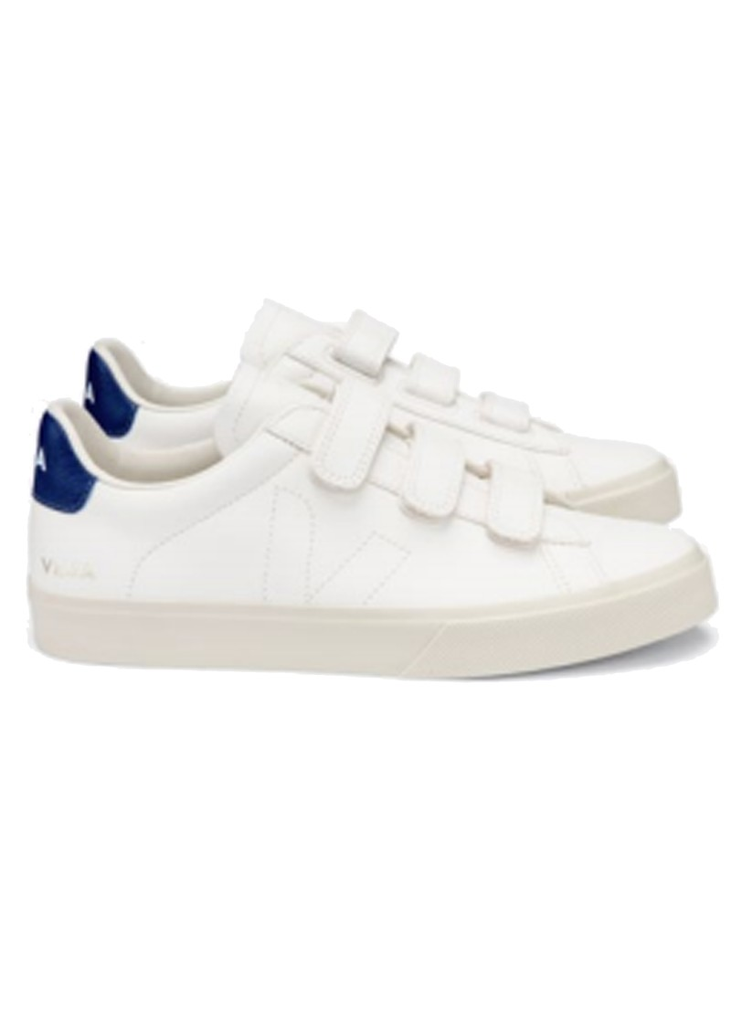 VEJA Recife Leather Trainers - Extra White & Cobalt main image