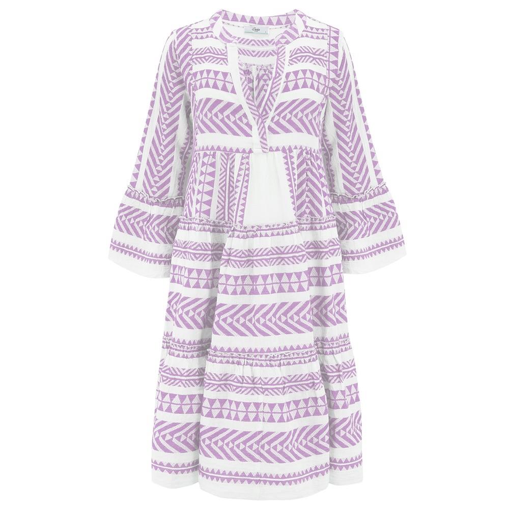 Ella Midi Cotton Dress - Lilac