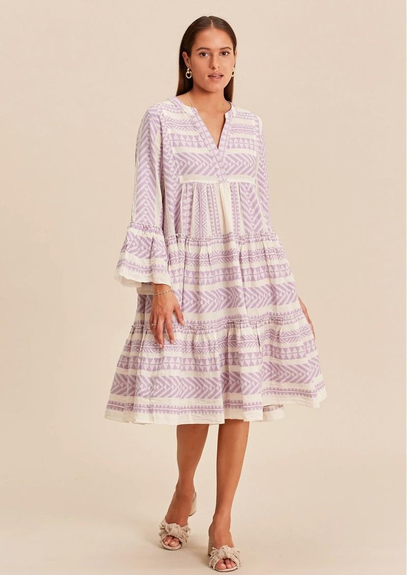 DEVOTION Ella Midi Cotton Dress - Lilac main image
