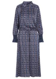 DEA KUDIBAL Kir Silk Shirt Dress - Dots Blue