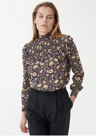 DEA KUDIBAL Eva V Printed Tunic Top - Autumn Bouquet