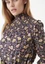 Eva High Neck Printed Tunic Top - Autumn Bouquet additional image