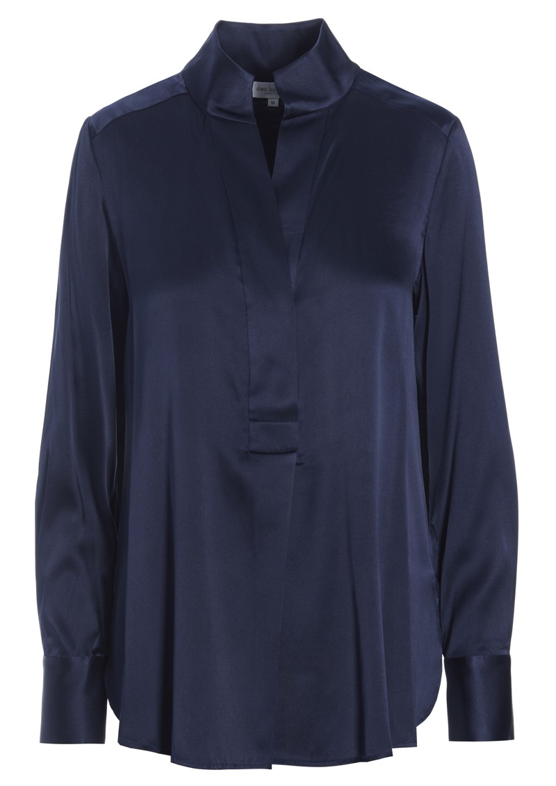 DEA KUDIBAL Nate Mulberry Silk Tunic Top - Navy Blue main image