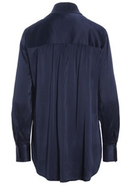 DEA KUDIBAL Nate Mulberry Silk Tunic Top - Navy Blue