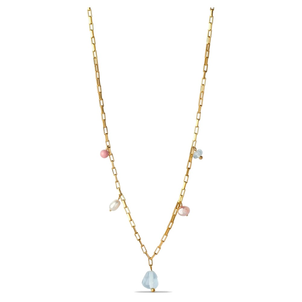 Mellow Freshwater pearl Necklace - Gold