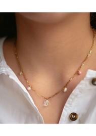 ENAMEL COPENHAGEN Mellow Freshwater pearl Necklace - Gold