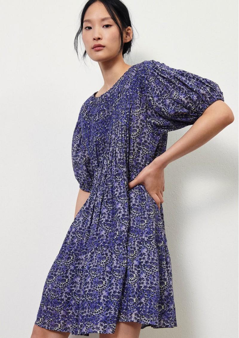 Ba&sh Iris Floral Printed Dress - Blue main image