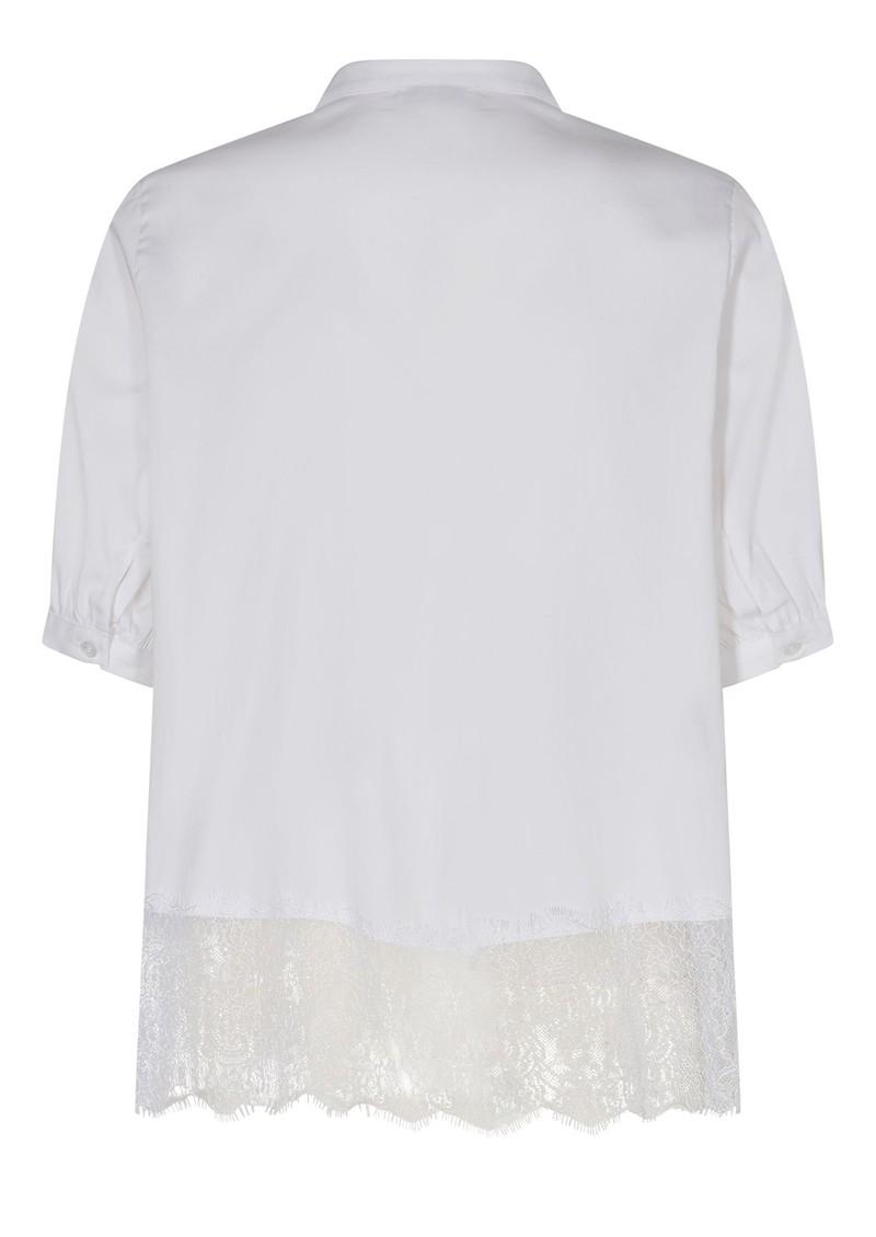 LEVETE ROOM Isla Solid 34 Lace Blouse - L100 White main image