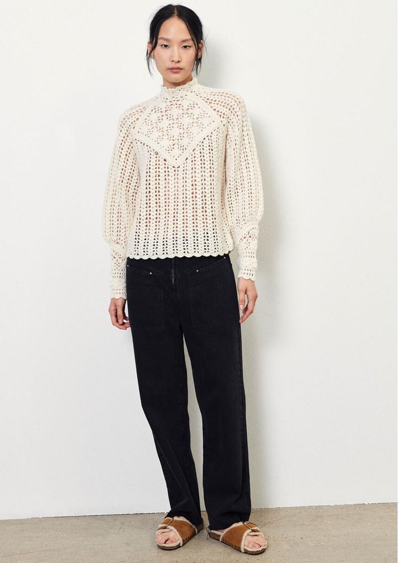 Ba&sh Aste Crochet Jumper - Ecru main image