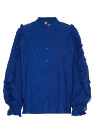 FABIENNE CHAPOT Josefine Cotton Blouse - Cobalt