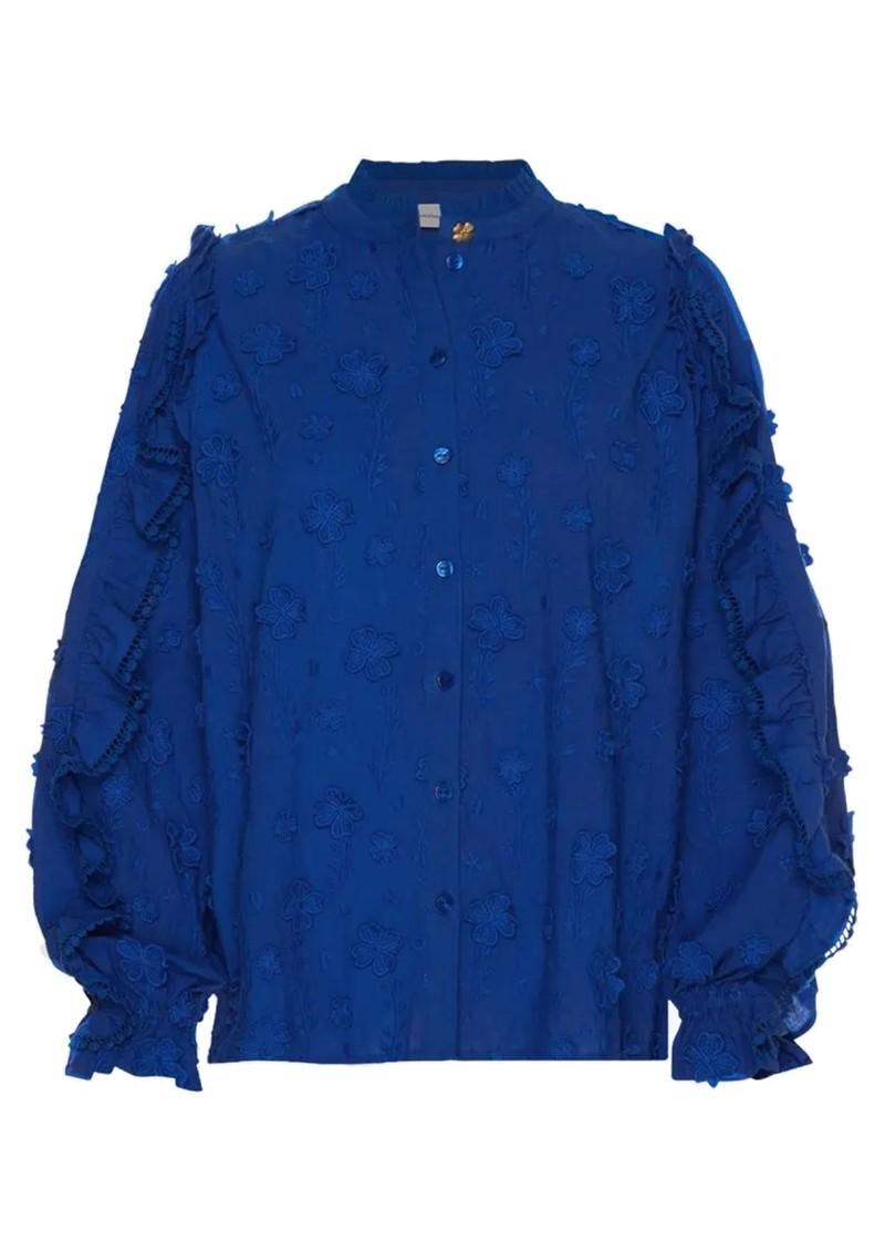 FABIENNE CHAPOT Josefine Cotton Blouse - Cobalt main image