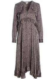 DEA KUDIBAL Valentina Silk Dress - Animal Taupe