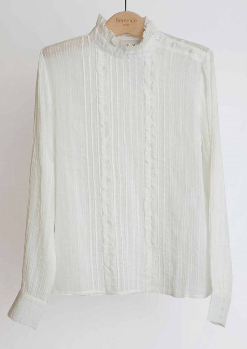 BERENICE Chad Cotton Blouse - Off White main image