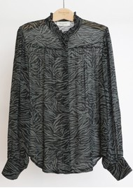 BERENICE Chris Zebra Printed Blouse - Wild Khaki