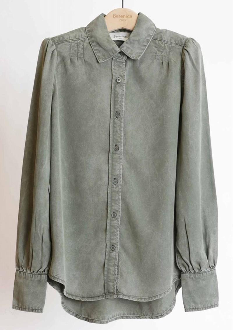 BERENICE Cleyton Shirt - Military Green main image