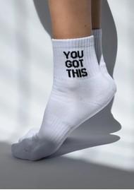 SOXYGEN You Got This Organic Cotton Socks - White