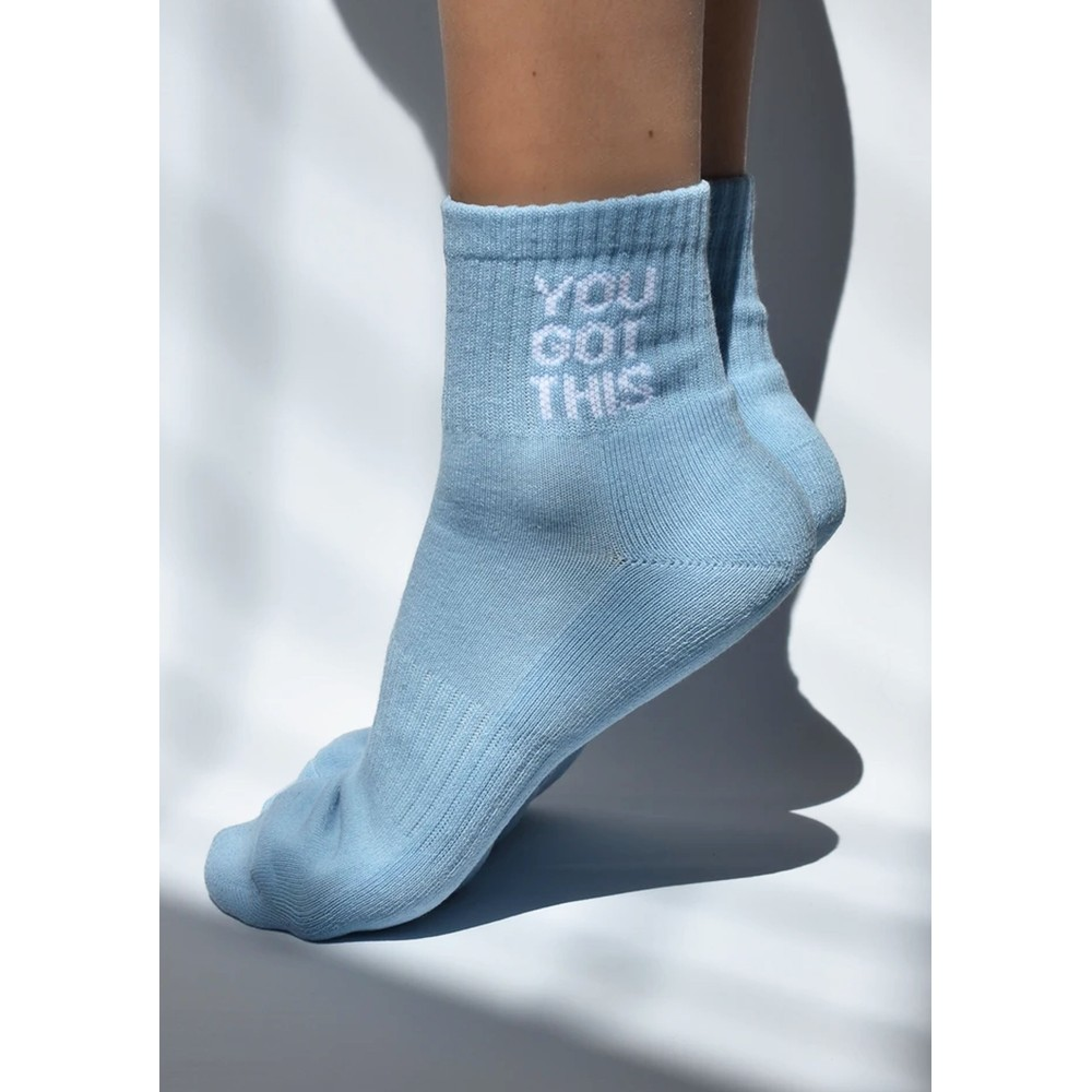You Got This Organic Cotton Socks - Sky Blue