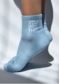 SOXYGEN You Got This Organic Cotton Socks - Sky Blue
