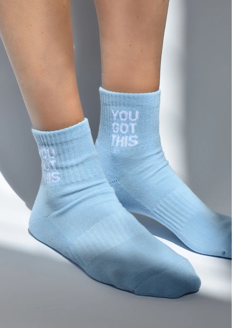 SOXYGEN You Got This Organic Cotton Socks - Sky Blue main image