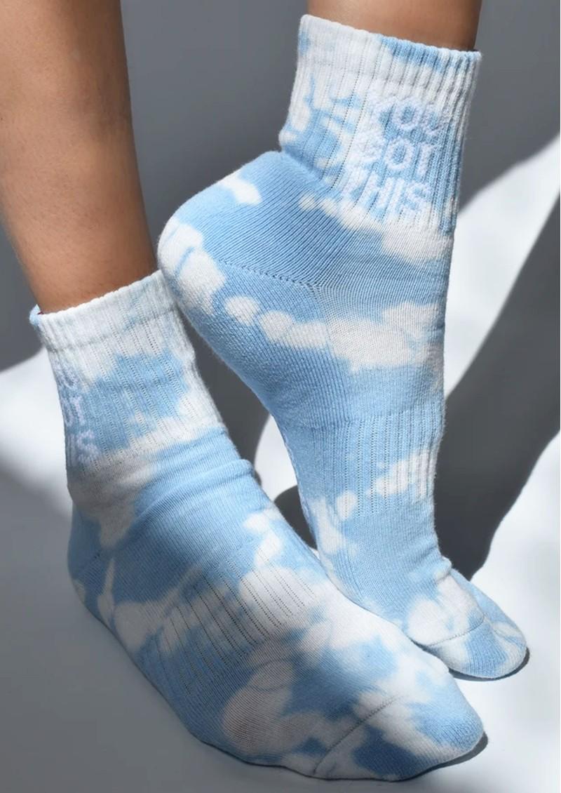 SOXYGEN You Got This Organic Cotton Socks - Cloud Tie Dye main image