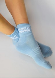 SOXYGEN Make it Happen Organic Cotton Socks - Sky Blue