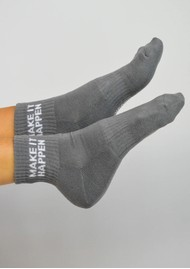 SOXYGEN Make it Happen Organic Cotton Socks - Dove Grey