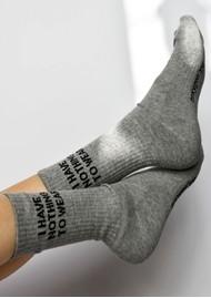 SOXYGEN I Have Nothing To Wear Organic Cotton Socks - Slate Black