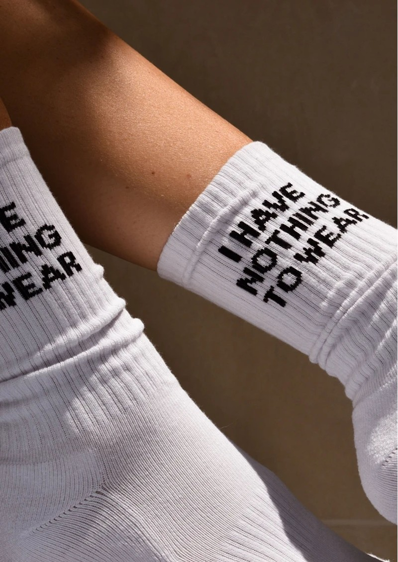 SOXYGEN I Have Nothing To Wear Organic Cotton Socks - Frost White main image